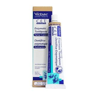 ยาสีฟันควบคุมหินปูน C.E.T Virbac Enzymatic Toothpaste ในสุนัขและแมว รสไก่