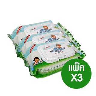 ผ้าเช็ดทำความสะอาดสัตว์เลี้ยง Sukina Petto70ชิ้น ขนาดประหยัดx3แพ็ค