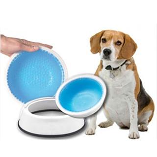 Frosty Bowl Chilled Pet Water Bowl ชามใส่น้ำเก็บความเย็น สำหรับสุนัขแมว ขนาด23.5x23.5x6cm