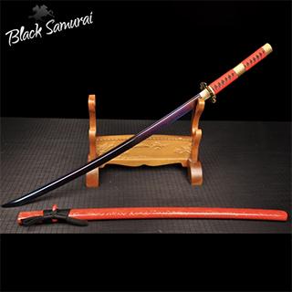 Black Samurai ดาบซามูไร katana T10 รุ่น Red lightning