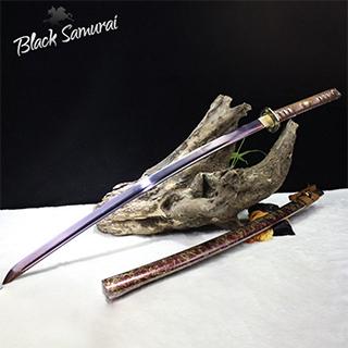 Black Samurai ดาบซามูไร katana เหล็กตีทบ รุ่น Volcano