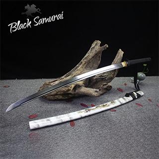 Black Samurai ดาบซามูไร katana T10 รุ่น White Marble