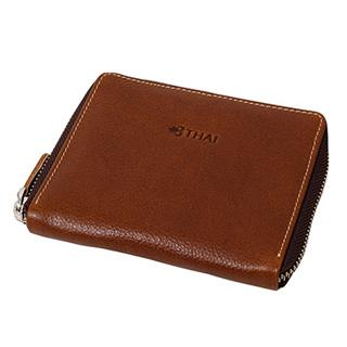กระเป๋าสตางค์ซิปรอบ L08 / สีน้ำตาล