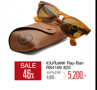 แว่นกันแดด Ray-Ban RB4169 820 Striped Havana/Crystal Brown